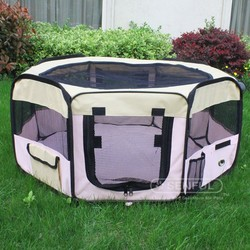 Dog Play pen with Eight Panels Folding Pet Play pen