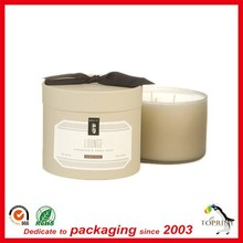 decorative luxury gift packaging box candle packaging boxes lid and base box satin ribbon on the lid free design supplier