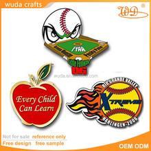 Fashinable design pad printing iron metal fancy lapel pins