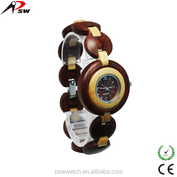 2015 new design Japan quartz wooden watch women bamboo bracelet watch