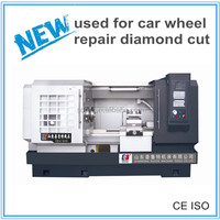 CK6170 diamond cutting CNC lathe equipment alloy wheel repair machine