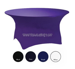round purple wedding table decoration covers/spandex wedding overlay table cloth/luxurious wedding table cloths