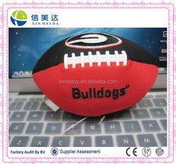 Plush rugby shape pet toy can make a sound train the pet
