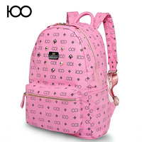 hot sell rivet PU leather wholesale branded backpack bag guangzhou
