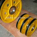 de alta calidad de acero fundido polea para el puerto de maquinaria