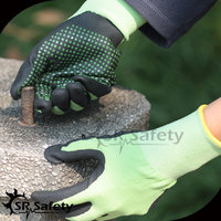 SRSAFETY 13g nitrile coated on palm working gloves with china supplier /cheap safety gloves