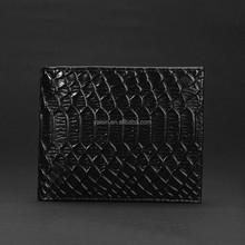 wgu3017 Men Genuine Leather Bifold Purse snake leather wallet