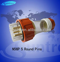 N56P550 IP66 industrial straight plugs passed SAA from 10A to 50A
