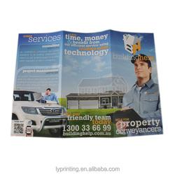 Full color printing flyer ,cheap brochure printing