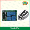 Smg-804 12v 4 canal de control remoto de rf interruptor de relé de salida