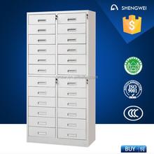 Industrial metal cabinet drawers