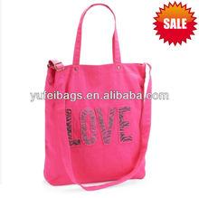 2013 Newest Love Zebra Print Girls Shopping Tote bag