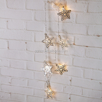Christmas tree decoration battery operated LED metal star light , garden/home decoration light