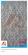 100% cotton eyelet embroidery voile fabric, swiss voile lace fabric