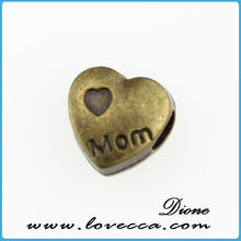 Metal Charms -Gold Made With Love Heart