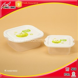 2 pcs set food grade plastic food storage container for microwave