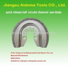 """2-1 / 2 """" quick release Semi diamante circular renovador hoja de herramienta multi-arbor para más multi tool"""