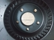 black cross drilled and slotted brake disc rotor DBA504