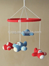 Crochet hand mobile airplane baby toys, Crochet mobile airplane stuffed toys