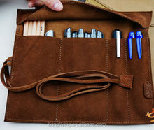 Whalesale deluxe leather case pen bag for EU market Shenzhen OEM factory
