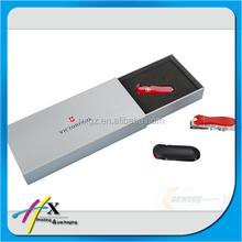 custom printed paper box for USB flash drives box packaging