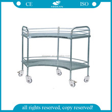 AG-SS007B Hot Sale Fan-Shaped Operation Apparatus Table Stainless Steel Trolley