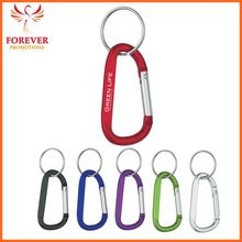 Promos Hot Selling 8mm Metal Carabiner Keychain Ring Supplier