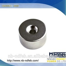 High Performance Ring Hard Ferrite Magnet, Permanent Round Magnets, aimant
