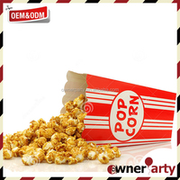 Safety Box Style Paper Popcorn Container