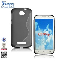 Veaqee wholesale tpu soft cover case for alcatel one touch pop c7