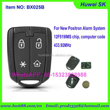Original positron Remote key for brazil positron alarm system,folding remote key, 433.92Mhz, 12F519IMS Computer code
