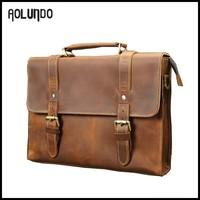Stylish Buckle Leather Messenger Laptop Bag 11.6