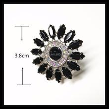 Fashion rhinestone crystal metal shoe decoration accessory,shoe clips wholesale
