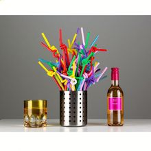 thick plastic flexible drinking straw
