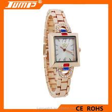 Authentic wholesale quartz rose gold diamond luxury alloy woman watch