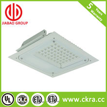 DLC and ETL listed gas station used led canopy light IP65 high efficiency