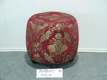 Retro cloth pattern design round stool