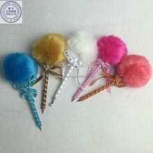 pink fluffy pen,hot pink pen