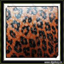 waterproof embossed leopard pattern microfiber leather for handbag lady's shoes material