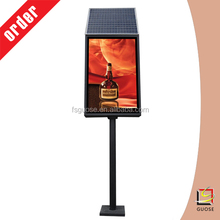 used outdoor lighted signs---solar power LED adverting frameless board with single pole