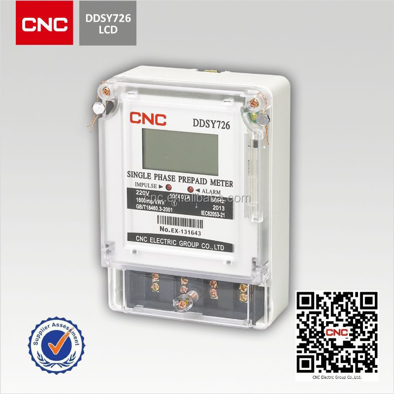 Single Phase Power Meter : Ddsy single phase electronic pre paid energy meter