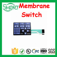 Smart Bes PC PET PVC metal dome membrane switch /graphic overlays push button membrane keyboard
