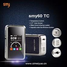 e-cig vapor 60w temp control Mini box mod SMY60TC pk iPV4 100W/iPV Mini 2 Subtank Mini Bell Cap