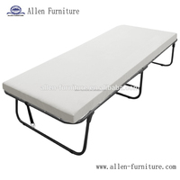 Foldaway Guest Bed Cot with Memory Foam Mattress Twin Size