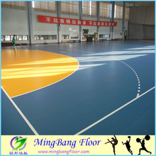 China supplier vinyl wood basketball/roller skating court pvc flooring