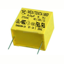 Factory Wholesale RoHS Compliant MKP 4uf 275V X2 Film Capacitor,free sample