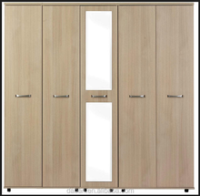 Jisheng newest wooden large wardrobe armoires with mirror mdf panel factory price