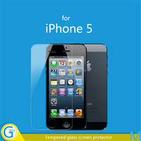 clear gold tempered glass screen protector for iPhone 5 5c 5s