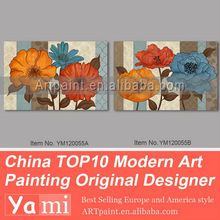 Original flor abstratas pinturas modernas para sala