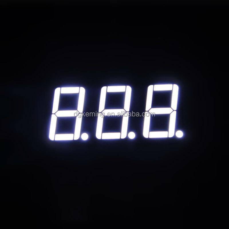 Bright White color 5631 inch three 3 triple digit 7 segment led numeric display module